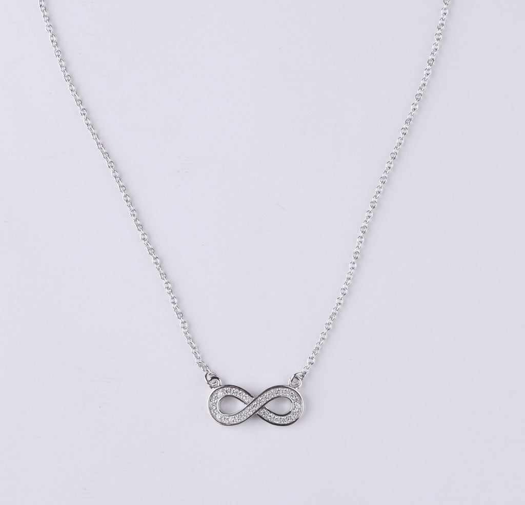 dtla dainty infinity silver necklace sterling sign jewelry amazon forever com dp