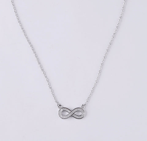925 silver infinity necklace for women