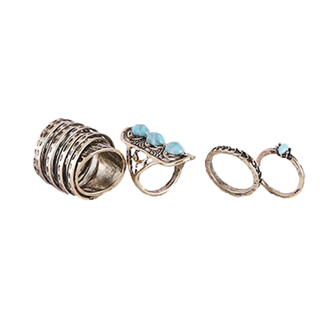 Ring set 5 peaces Midi finger Rings for Women - (7)