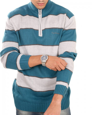 Pierre Cardin sweatshirt Grey*Turquoise for men