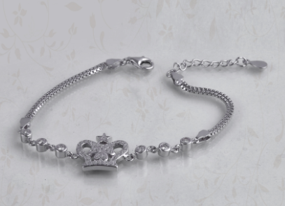 925 silver bracelet for women ( Crown )