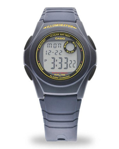 Casio F-200W-2BDF Rubber Watch - Blue - ahlayn.com