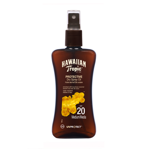Hawaiian Tropic Sun PROTECTIVE Dry Spray Oil SPF 20 UVA UV Protect With Coconut