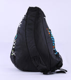 Shoulder Backpack Cross Body Bag- Multi color*Black