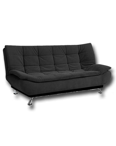 Art Home 3 Seaters Velvet Sofa Bed - 190x120 cm - Black