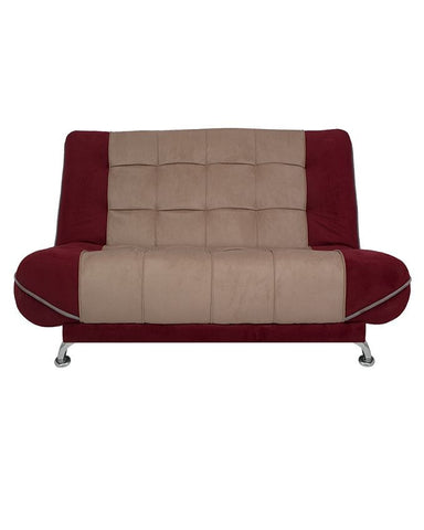 Art Home Sofa Bed - Beige/Burgundy