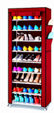Stackable Shoe Cabinet 9 Column Shoe Rack with Dust Cover