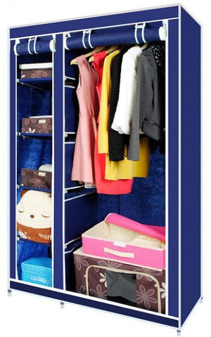 Portable Fabric Closet Wardrobe/دولاب 2 درفه