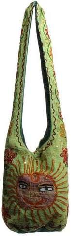 Tall Hand Bag With Sequin, 120 - Lime