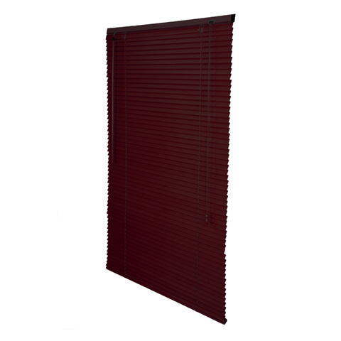 Modern wood blinds- Dark Red
