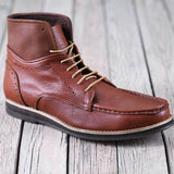 HIGH ANKLE BOOTS LACE UP-Leather -for men