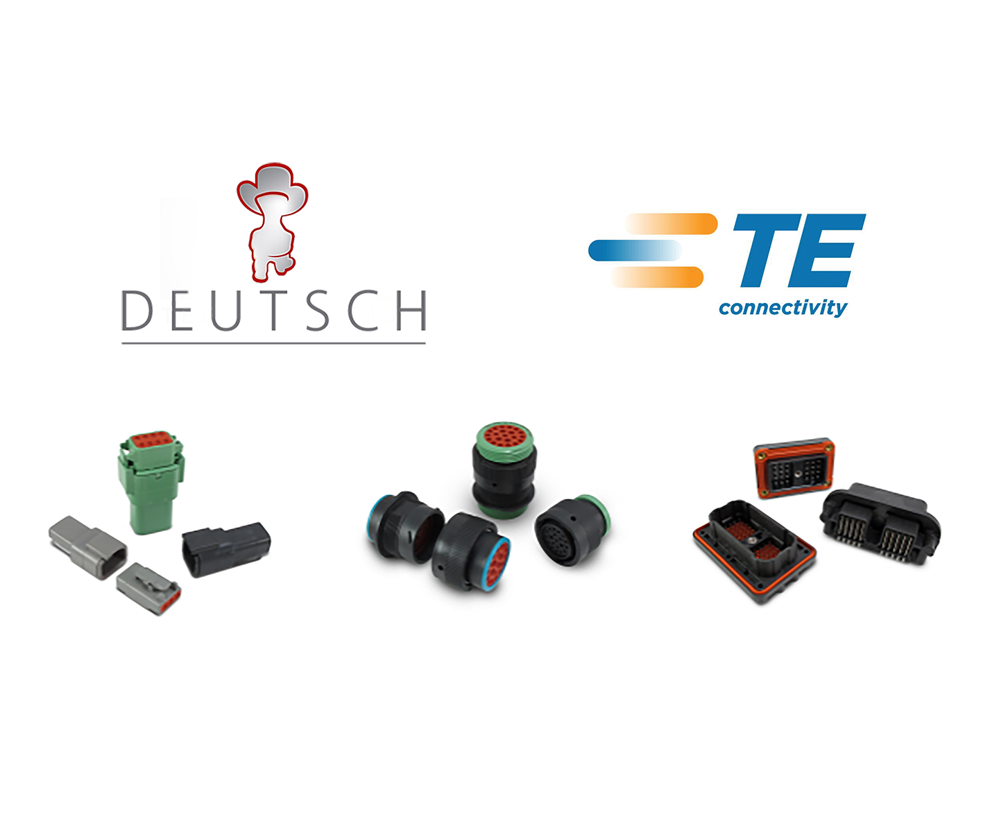 Deutsch / TE Connectors, Backshells, Contacts and Tools TE's DEUTSCH products have reliably performed in some of the harshest environments. For aerospace, defense, marine, industrial commercial transportation, and rail, TE provides a robust product line of DEUTSCH products that include wires, connectors, contacts, accessories, and sub-sea power cables.