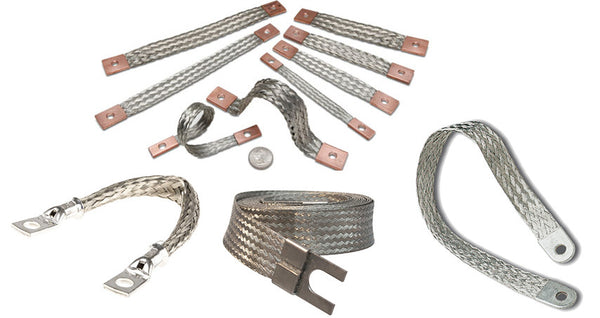 Steel Braided Battery Cable : Ground straps stahl metall engineering
