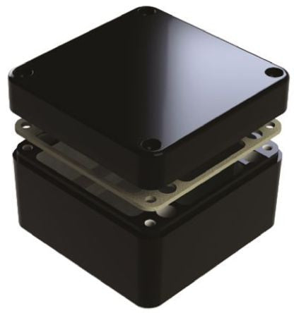 IP68 Aluminium Enclosure Shielded 120 x 120 x 80mm - SMEDEL487-121208E-68