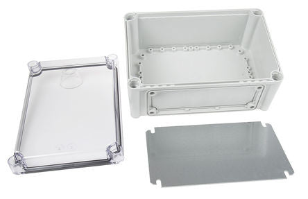 Polycarbonate Enclosure, IP66, IP67, Flanged, 280 x 190 x 130mm - SME506-069