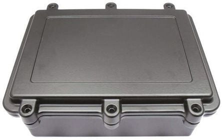 IP67 Aluminium Enclosure Shielded, Flanged, 202 x 142 x 80 - SMEHQ031EMSBK