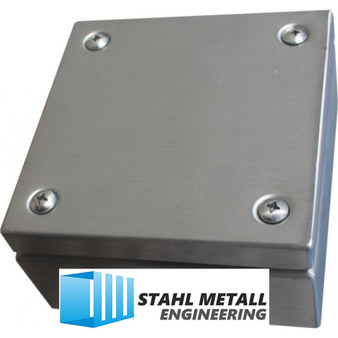 IP66 Stainless Steel Enclosures 200 x 200 x 120mm - SME-SS316-IP66-200200120