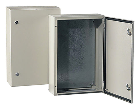 IP66 Outdoor Enclosure, Box, Steel, RAL7032, 600 x 600 x 200mm - SMEAE606020