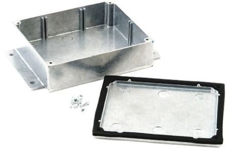 IP68 Aluminium Enclosure Shielded Flanged 202 x 120.8 x 55.9mm - SMEDEL483-C050