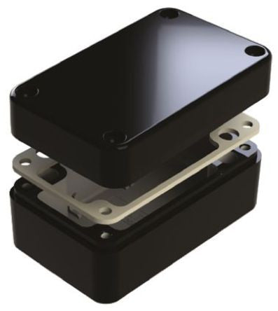 IP68 Aluminium Enclosure Shielded 130 x 80 x 60mm - SMEDEL487-130806E-68