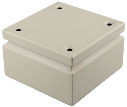 Steel IP66 Junction Box, 150 x 150 x 80mm, Grey - SME122103