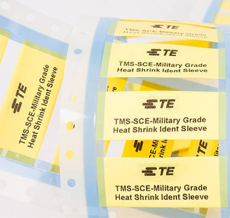 TE / Raychem Heat Shrink / Cable Markers Yellow (250pc) - TMS-SCE-1/2-2.0-4