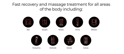 Pulse Massager Treatment Areas