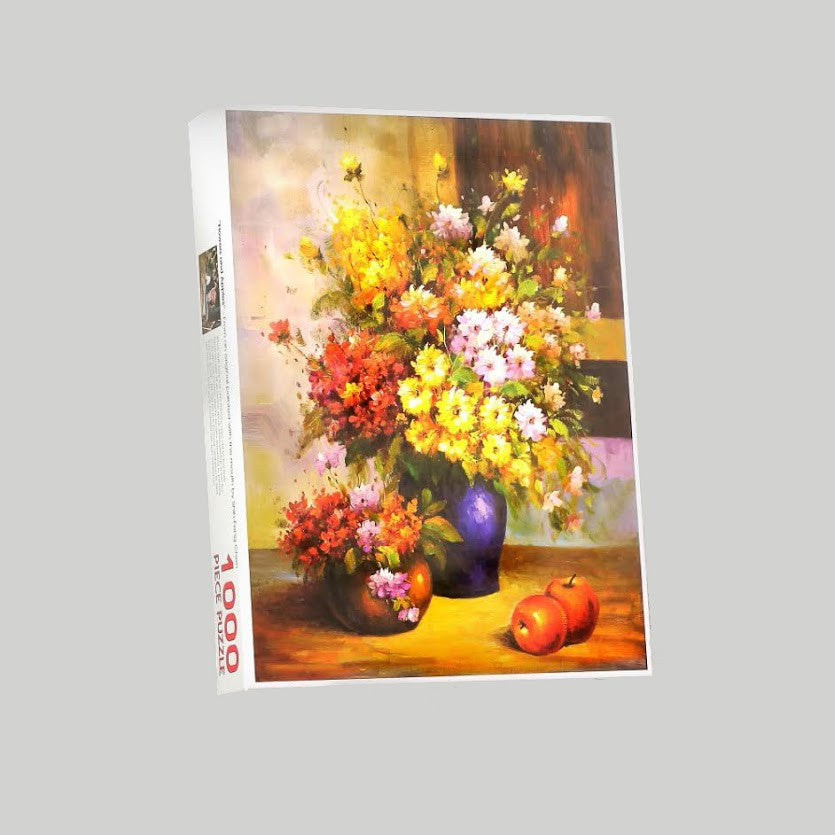 "Jigsaw puzzle ""Flowers and Apples"""