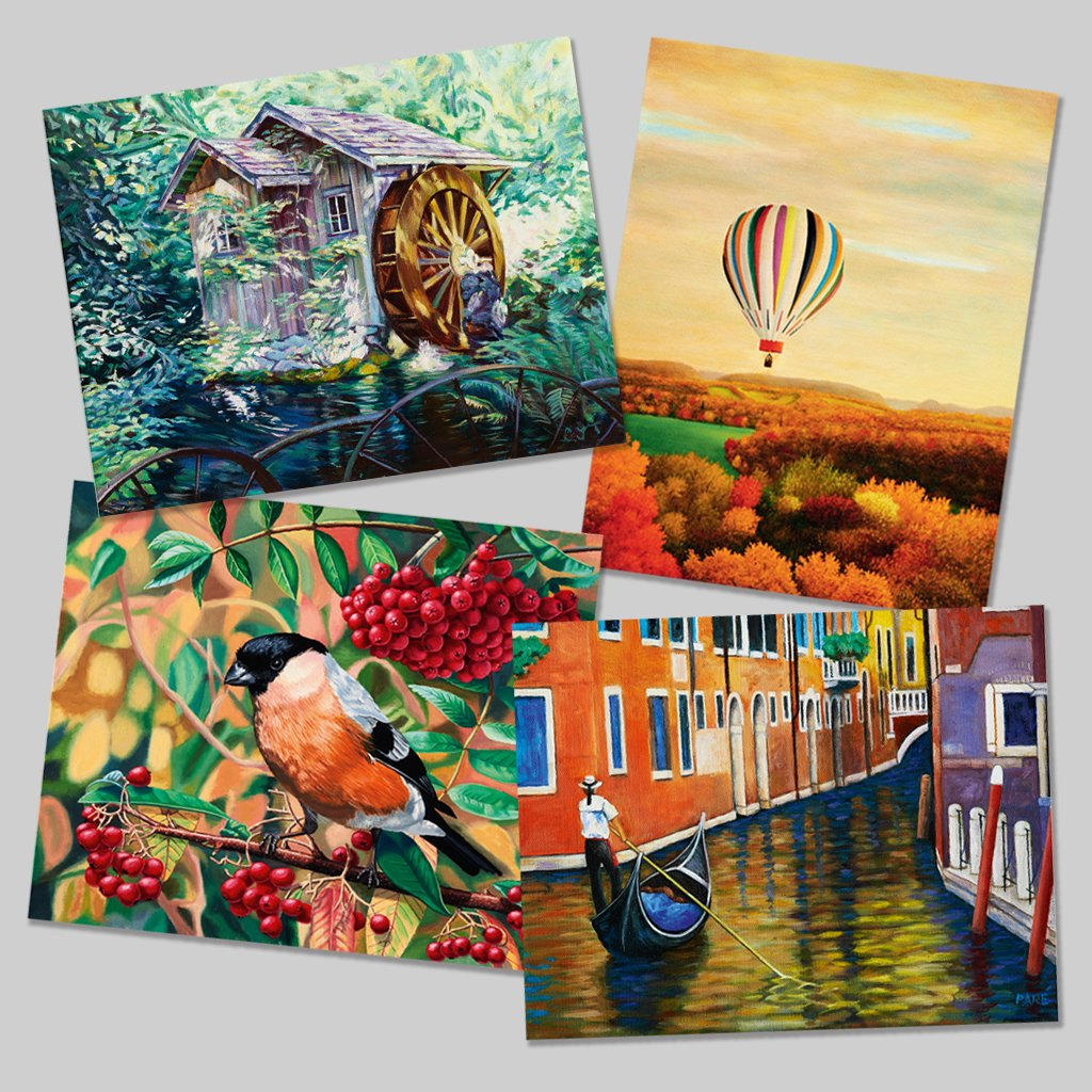 NEW-Attractive Set of 4 Art Prints #1