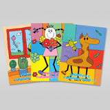 NEW-Set of 3 Children's Coloring Books