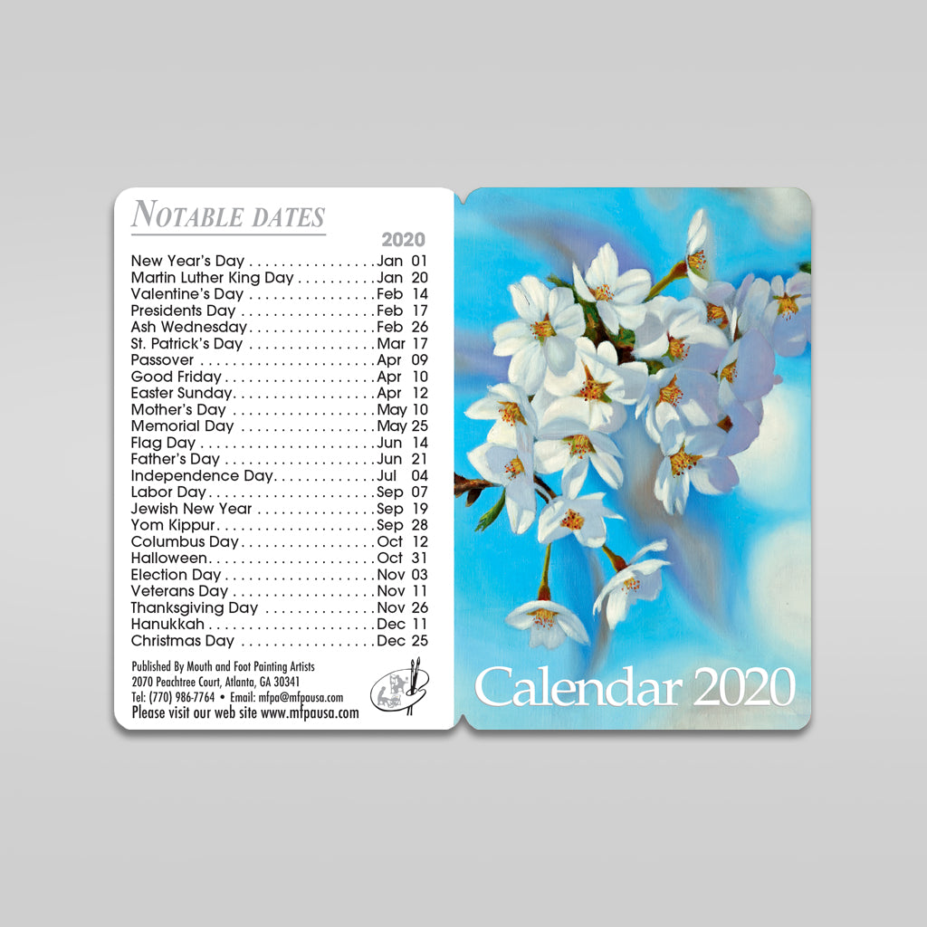 Sets of 2020 Pocket Calendar