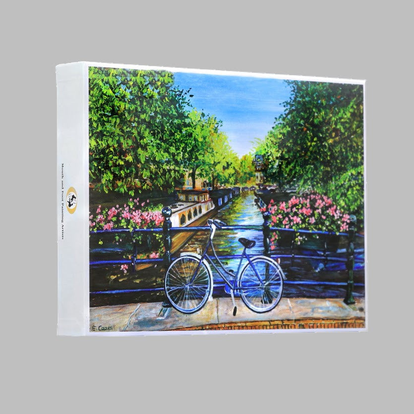 "Jigsaw puzzle ""Cycling by the Canal"""
