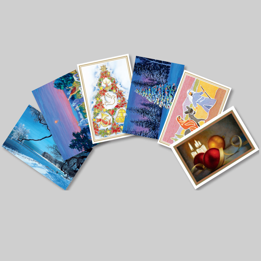 Select any 6 Festive cards from the 18 shown