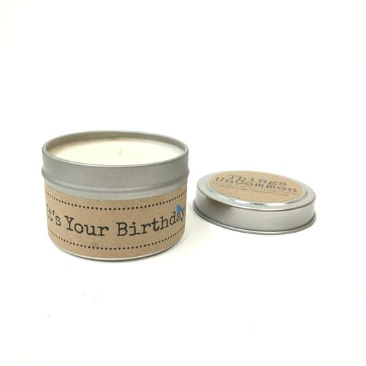 It's Your Birthday Tin Candle
