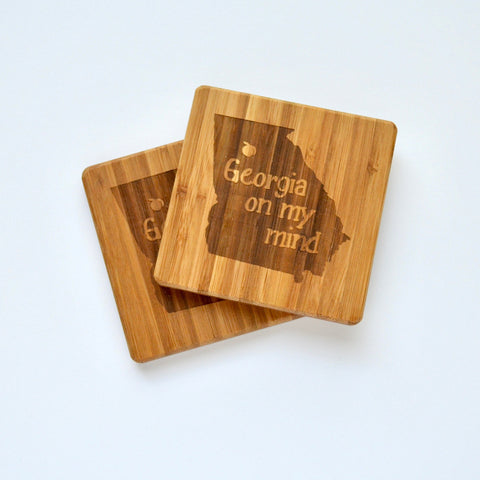 Athens Map Letterpress Coasters