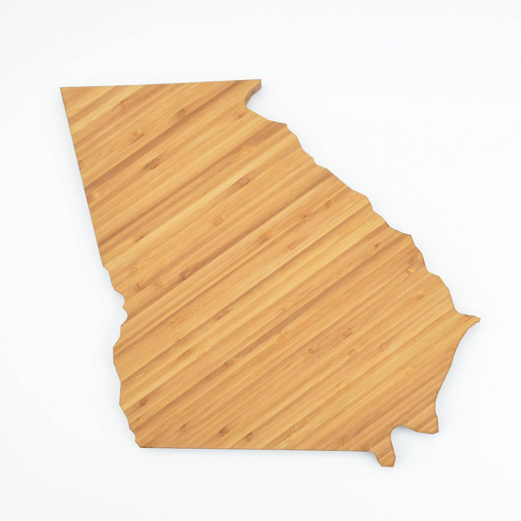 Georgia Shaped Bamboo Cutting Board