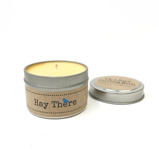 Hay There Tin Candle