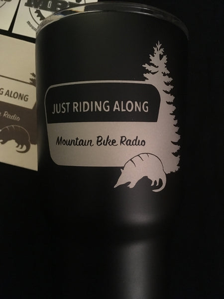 MBR - Just Riding Along Stainless Steel Double Wall Mug (30 oz - Black)