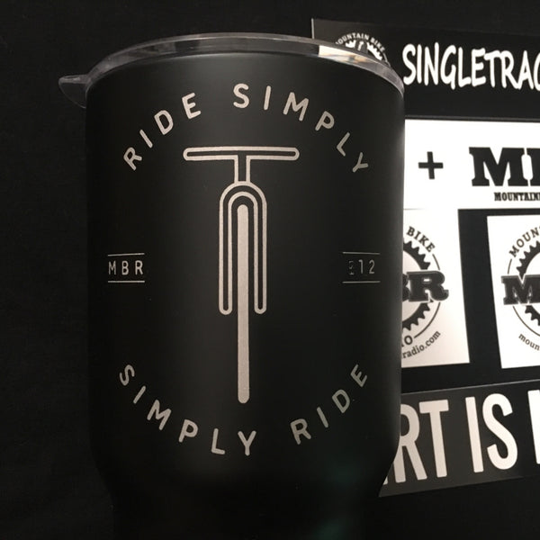 MBR - Simply Ride Stainless Steel Double Wall Mug (30 oz Black)