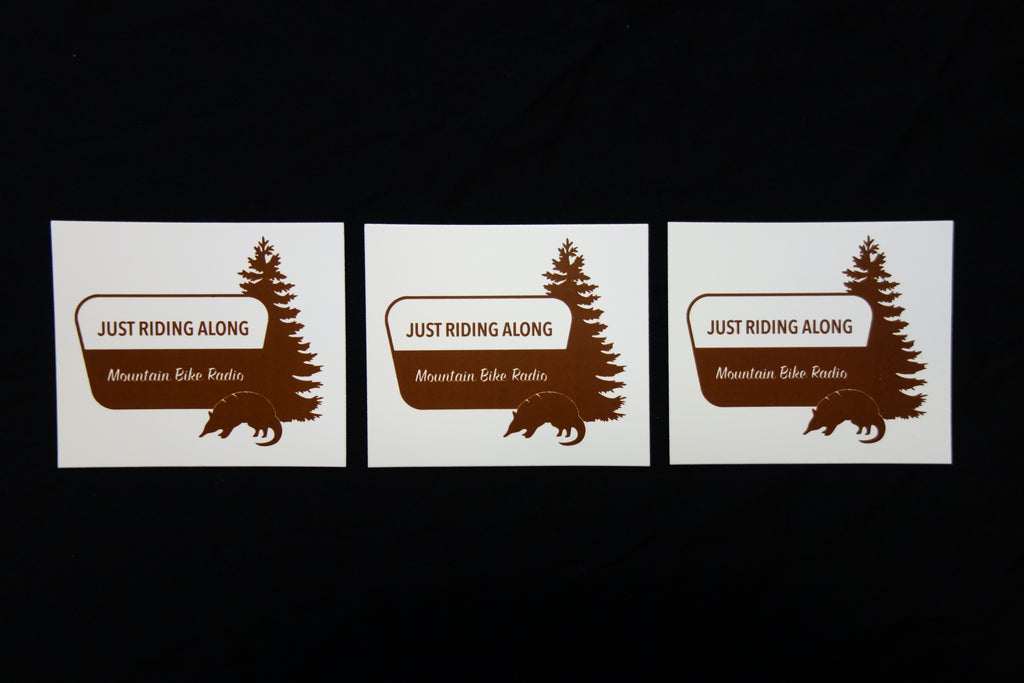 Just Riding Along Logo Sticker Pack