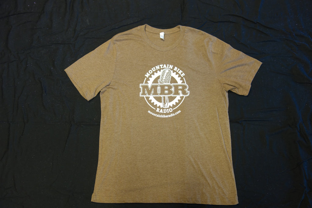MBR Logo Tshirt -Heather Brown with White - BLOWOUT SALE!