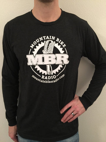 MBR Logo Long Sleeve TShirt - White on Black