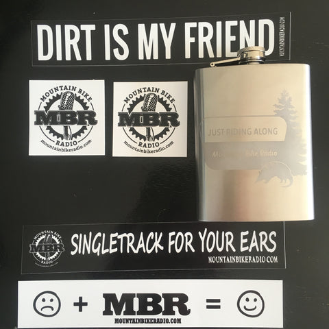 MBR - 8oz. Just Riding Along Stainless Steel Flask