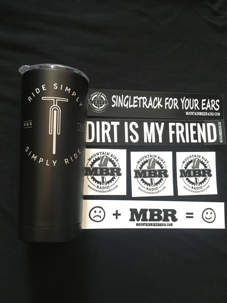 MBR - Simply Ride Stainless Steel Double Wall Mug (20 oz Black)