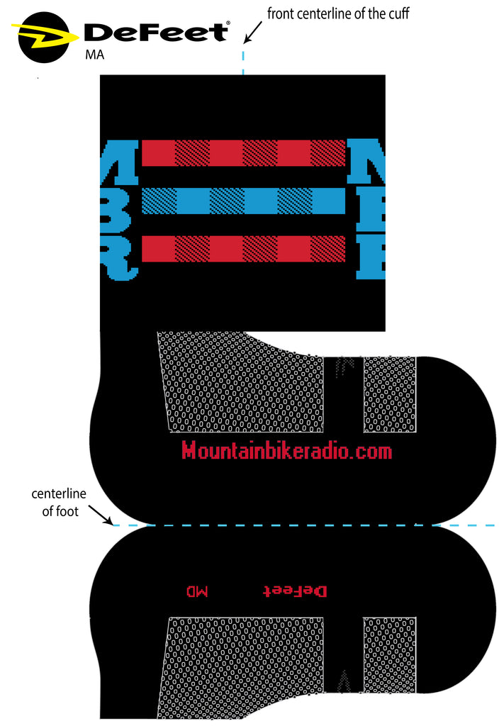 "MBR DeFeet Wooleator Sock - 6"" Cuff (PREORDER)"