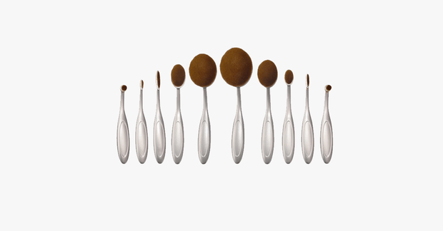 10 Piece Aphrodite  Oval Brush Set