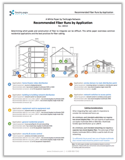 White paper: Recommended Fiber Runs by Application