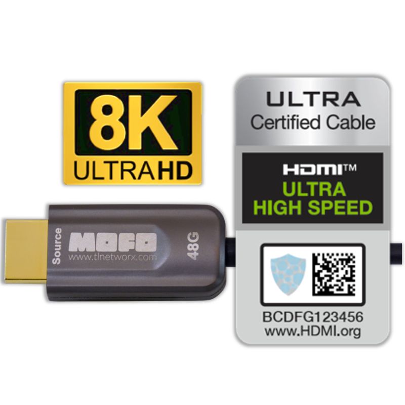 TechLogix 8K Cables Receive HDMI Certification