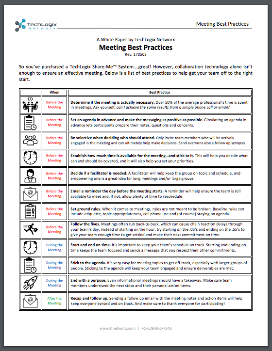 White Paper: Meeting Best Practices