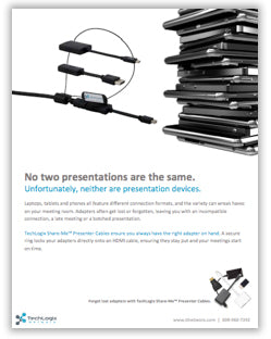 New TechLogix Brochure: Share-Me™ Presenter Cables